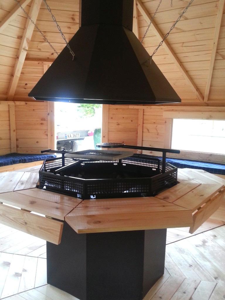 nordlog kombi- grillkota mit sauna 16,5m2 saunahaus gartensauna